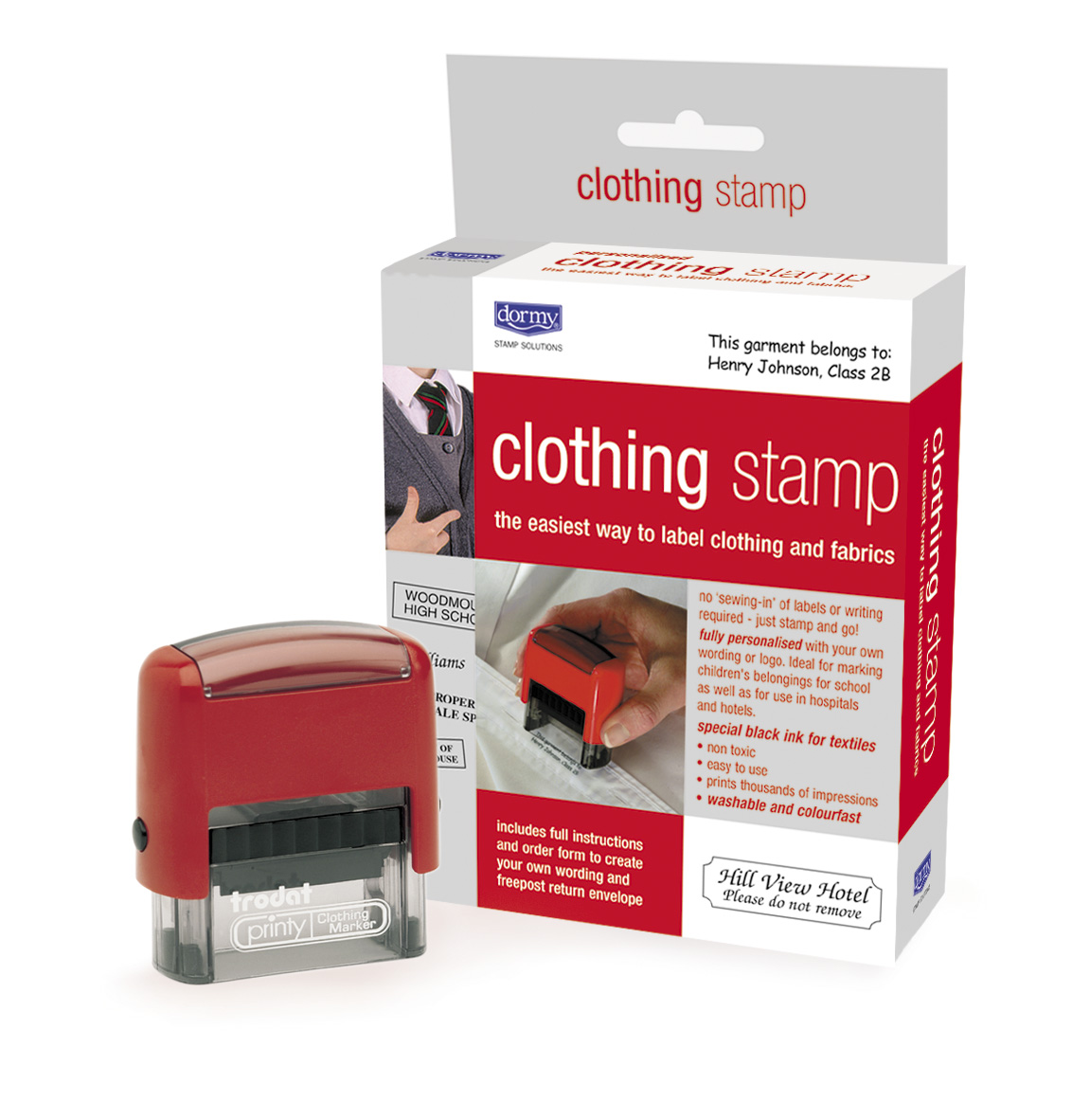 Dormy Clothing Stamp Box